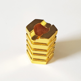 Sigarettendover hexagon goudkleur - D14027
