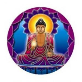 Raamsticker dubbelzijdig - Buddha light - D11092