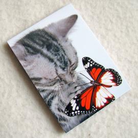 Notitieblokje poes met vlinder - D10614C