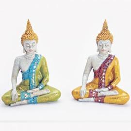 Zittende Thaise boeddha gekleurd - WD00057