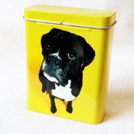 Sigarettendoosje hond geel - D12263