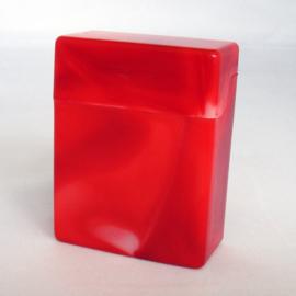 Sigarettendoosje plastic, rood (voor 30 sig.) - D11197