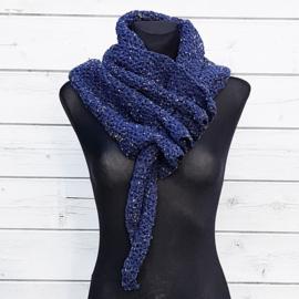 Rijgsjaal tweed blauw - TSH00017