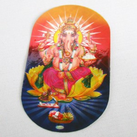Sticker Ganesh op lotus - D11116