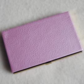 Visitekaartjesdoosje roze - D10286