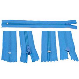 Rits 19 cm - blauw - niet deelbaar - D12396