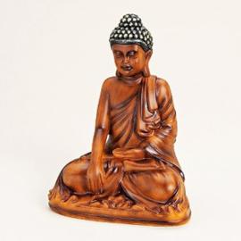 Boeddha bruin 16x21x12 cm