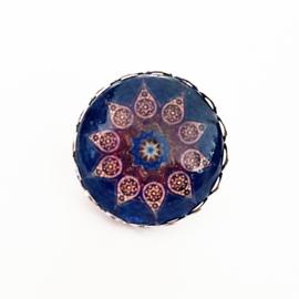 Broche mandala blauw/roze - TSH00011