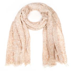 Sjaal met spuitprint camel - D14084