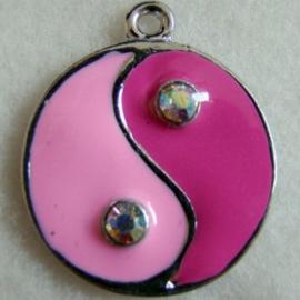 Bedel yin yang fuchsia/roze - S10197