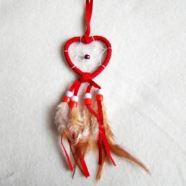 Dromenvanger hartje 5 cm rood - D10882a