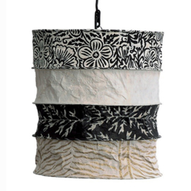 Lokta lamp Casablanca ecru-black