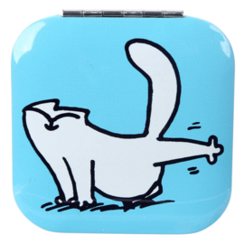 Make-up spiegel Simon's cat blauw - D13292
