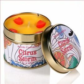 Geurkaars Citrus Storm in blik - BOMB Cosmetics