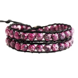 Lulu armband roze - S10998