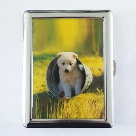 Sigarettenkoker hond wit - D10483