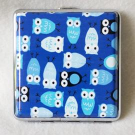 Sigarettenkoker uiltjes blauw - D12669