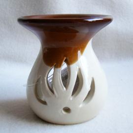 Olieverdamper creme/bruin - O10339