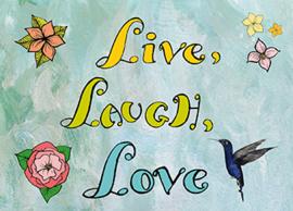 Kaart Live Laugh Love - Sidedish - SD0014
