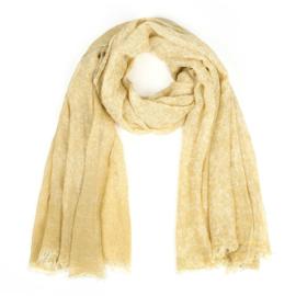 Sjaal met spuitprint geel - D14083