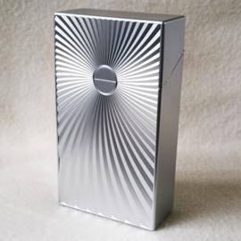 Sigarettendoosje metalic zon lang - zilverkleur - D12438