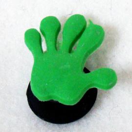 Jibbitz hand groen - S11129