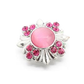 Magneetbroche roze zilverkleur - D14021