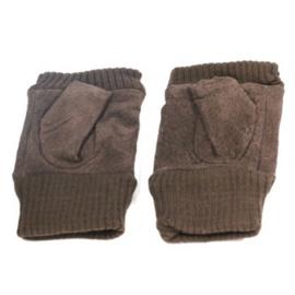 Vingerloze handschoen donkerbruin - D13019