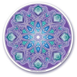 Raamsticker dubbelzijdig - Nirvana mandala - D11098