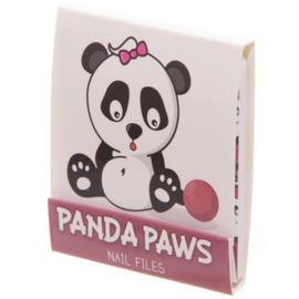 Nagelvijltjes panda donkerroze/paars - D12831d