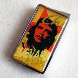 Aansteker Che Guevara, okergeel/bruin - D10804