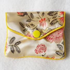 Chinees geldbuideltje beige - D12779