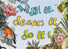 Kaart wish it dream it do it - Sidedish - SD00013