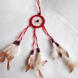 Dromenvanger 5 cm rood - D10883a