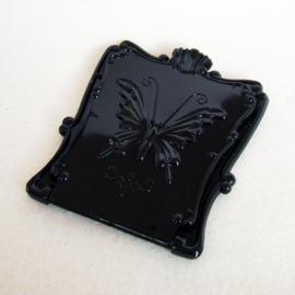 Make-up spiegel zwart met vlinder - M00155