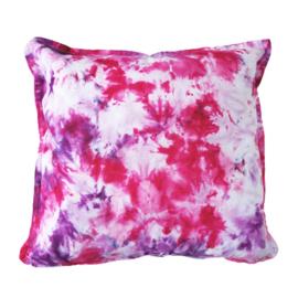 Tie Dye kussen roze paars wit - TD00188-1