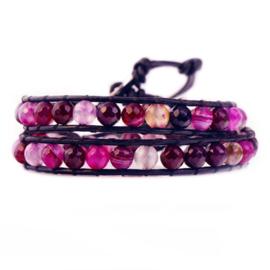 Lulu armband roze - S10983