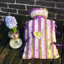 Kruikenzak softfun batik paars/groen/wit/roze - TS0004a