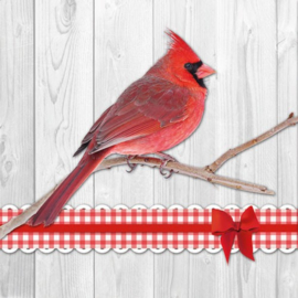 Servet kardinaalvogel - 5 stuks - D13136