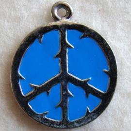 Bedel vredesteken blauw - S10337