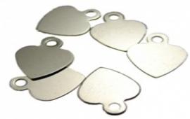 Bedel hartje klein zilverkleur - S10439