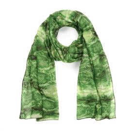 Sjaal snakeprint groentinten - D14074
