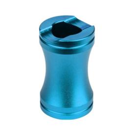Sigarettendover aluminium blauw- D14049