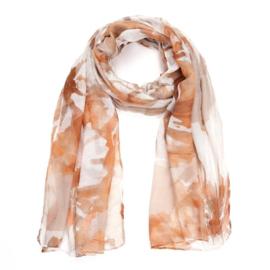 Sjaal tie dye bruintinten - D14081