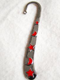 Boekenlegger ster/maan (rood) - D10238
