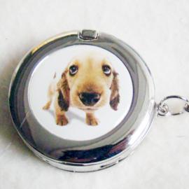 Tashaak hondje met spiegel - D10283