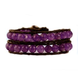 Lulu armband paars - S10985