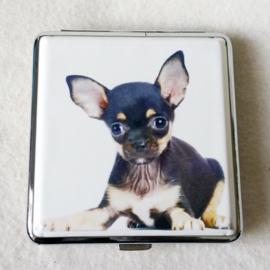 Sigarettenkoker hondje zwart/bruin - D12667