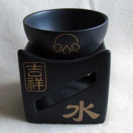 Olieverdamper met chinese tekens, zwart of wit - O10402