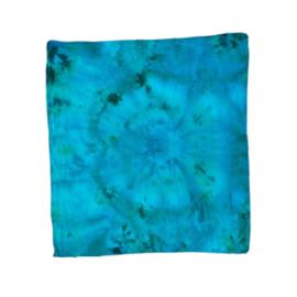 Tie Dye bandana jadegreen blauw
